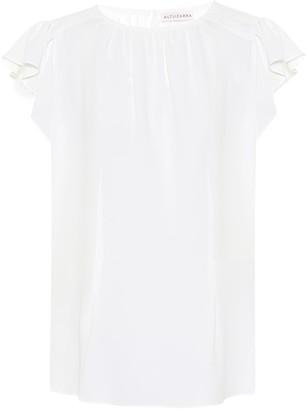 Altuzarra Silk-blend crApe blouse