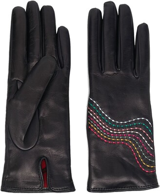 Paul Smith Swirl stitch gloves