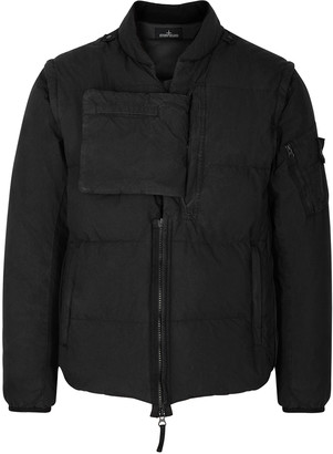 Stone Island Shadow Project Black quilted cotton-nylon poplin jacket