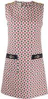 Gucci horsebit print short dress