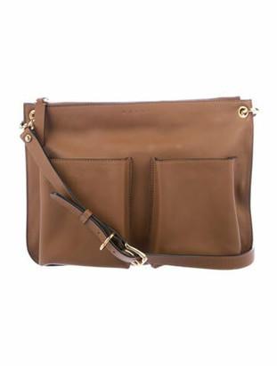 Marni Bandoleer Leather Crossbody Bag Brown