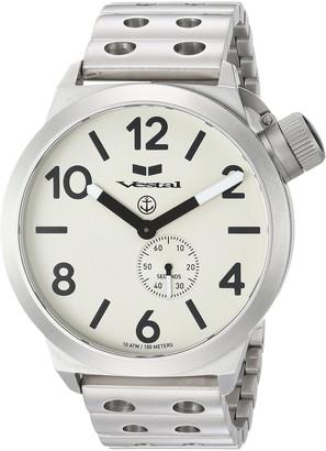 Vestal Unisex CNT453M05.DSVM Canteen Metal Analog Display Analog Quartz Silver Watch