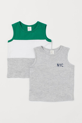H&M 2-Pack Cotton Vest Tops