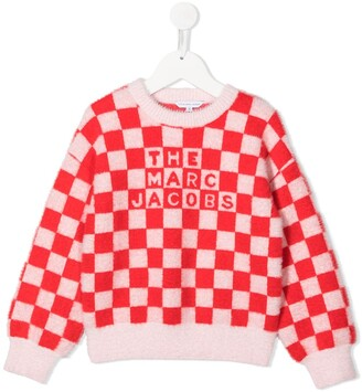 The Marc Jacobs Kids Checkered Knit Jumper