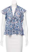 Rebecca Minkoff Ronnie Printed Top w/ Tags