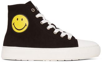 Joshua Sanders Black Smiley Edition High-Top Sneakers