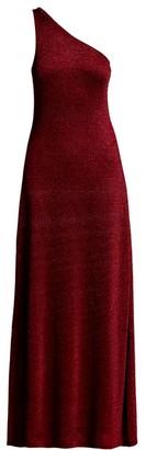 Missoni One-Shoulder Metallic Knit Gown