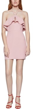 BCBGeneration Flounce-Neck Dress