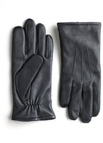 Black Brown 1826 Touchpoint; Leather Smart Gloves