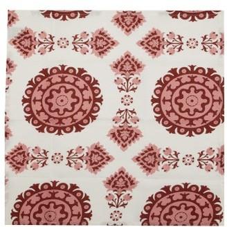 Cabana Magazine - Set Of Four Samarkand Linen Napkins - Pink Multi