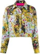 Versace quilted floral-print Baroque jacket