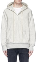 Bassike Rib panel combed French terry sweatshirt