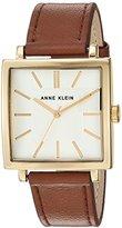 Anne Klein Women's Quartz Metal and Leather Dress Watch, Color:Brown (Model: AK/2736SVHY)