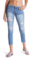 Just USA Distressed Midrise Ankle Skinny Jeans