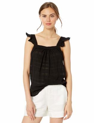 Kensie Women's Textured Cotton Stripe Top