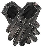 Black Ladies' Kid Leather Hand-stitched Driving Gloves