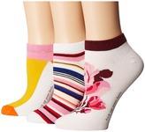 Kate Spade Rosa 3-Pack No Show Women's No Show Socks Shoes