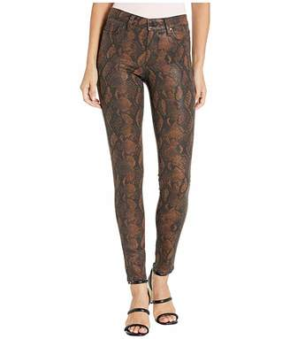 Paige Hoxton Ultra Skinny in Coated Brown Snake (Coated Brown Snake) Women's Jeans