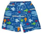 I Play Fish Trunks with Built-In Swim Diaper in Royal Blue