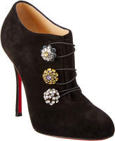 Christian Louboutin Bootoni 100 Suede Ankle Bootie