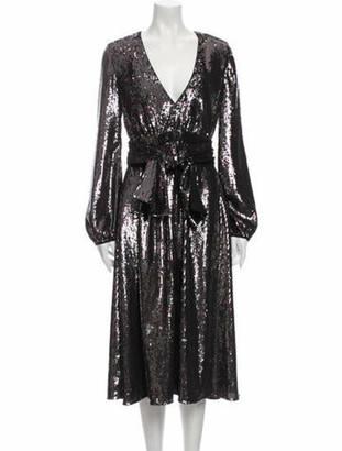 No. 21 X Kartell V-Neck Midi Length Dress w/ Tags Black