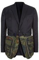 Givenchy Satin Camouflage Money Hem Jacket