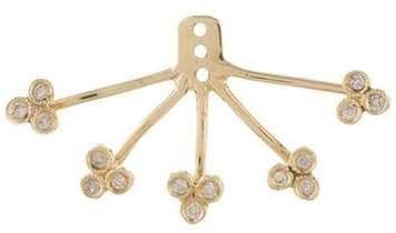 Jacquie Aiche 14kt gold diamond 5 x 3 cluster ear jacket