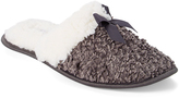 Ellen Tracy Gray Boucle Slipper