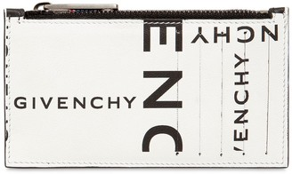 Givenchy Logo Printed Leather Zip Wallet