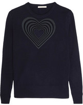 Christopher Kane Embroidered Wool And Cashmere-Blend Sweater