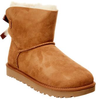 UGG Women's Mini Bailey Bow Ii Water-Resistant Suede Boot