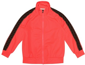 Fendi Kids Stretch-jersey track jacket