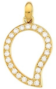 Tamara Comolli Siganture Wave 18K Yellow Gold & Diamond Pave Large Pendant