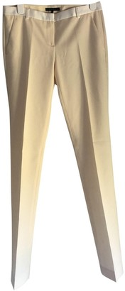 Theory White Wool Trousers