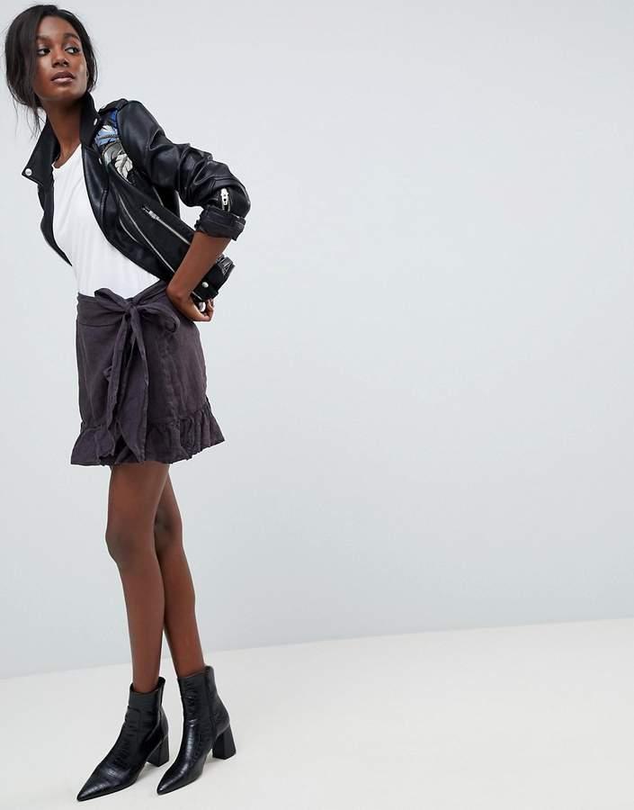 Blank NYC festival Ruffle Tie Skirt