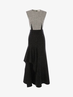 Alexander McQueen Donegal Drape Midi Dress
