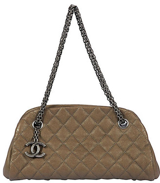 One Kings Lane Vintage Chanel Etoupe Caviar Mademoiselle Bag - Vintage Lux - etoupe/gunmetal