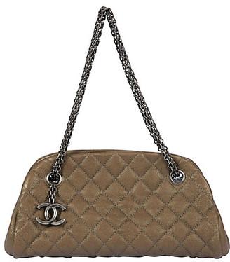One Kings Lane Vintage Chanel Etoupe Caviar Mademoiselle Bag - Vintage Lux