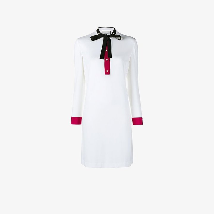 Gucci ribbon-trimmed shift dress