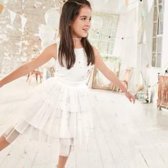 River Island Girls White embellished flower girl dress