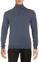Black Brown 1826 Superfine Merino Half-Zip Sweater