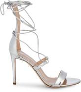 Giuseppe Zanotti Metallic Leather Lace-Up High Heel Sandals