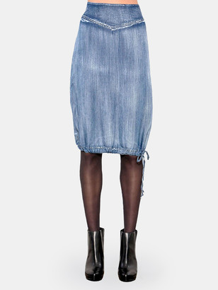 Standards & Practices Alexa Tencel Drawstring Hem Skirt