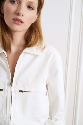 La Petite Francaise Celia Denim White Jumpsuit - 36