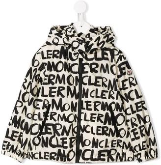 Moncler Enfant Logo Print Padded Jacket