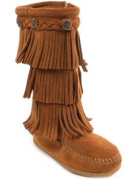 Minnetonka Toddler Girls 3-Layer Fringe Boot