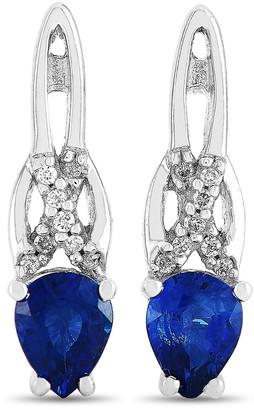 Non Branded Lb Exclusive 14K 0.57 Ct. Tw. Diamond & Sapphire Earrings