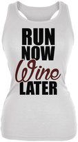 Old Glory Run Now Wine Later Juniors Soft Tank Top