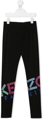 Kenzo TEEN logo print leggings