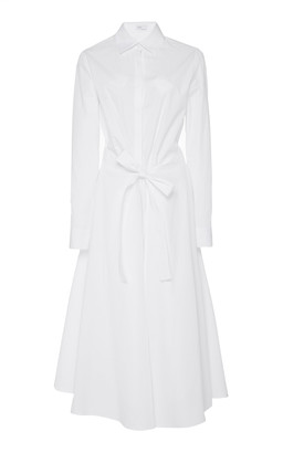 Rosetta Getty Apron Wrap Cotton Shirt Dress